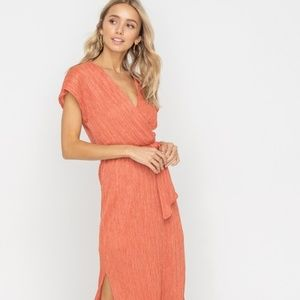Dresses & Skirts - Ginger Spice Wrap Style Belted Midi Dress